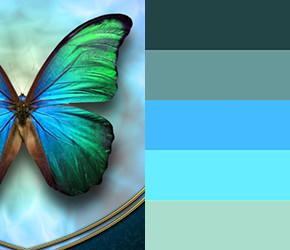 Натхненні метеликами палітри