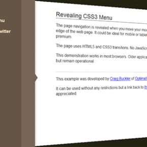 Створення рухомого меню з CSS3