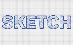 Sketch Text Effect - 600