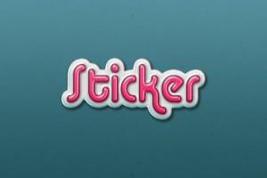 3D Sticker Text Effect - 600