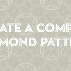 Діамантовий геометричний патерн в Adobe Illustrator