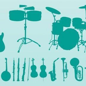 Векторний кліпарт на музичну тему