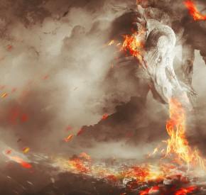 Фотоманіпуляція з драконом в Adobe Photoshop