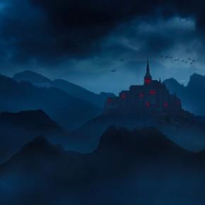 Похмурий пейзаж із замком в Adobe Photoshop