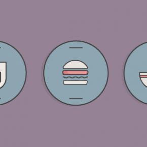 Мінімалістичні іконки на тему їжі в Adobe Illustrator