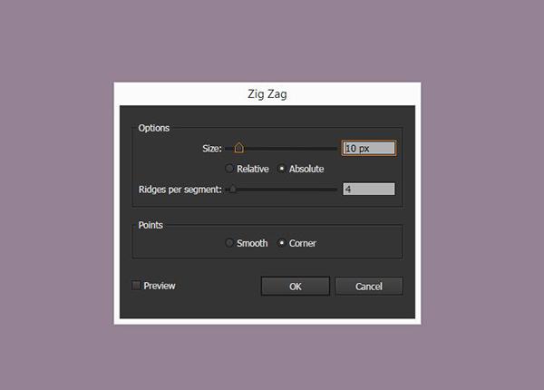 zig-zags